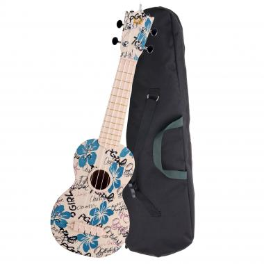 Classic Cantabile Ukulele de soprano - BeachBuddy Hula-Holiday, ABS