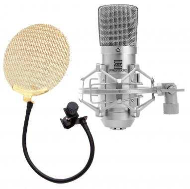 Pronomic CM-10 Studio Condensor Microphone SET incl. gold pop filter