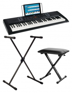 FunKey 61 Edition Black SET incl. keyboard stand and bench