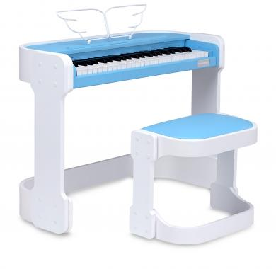 FunKey DP-49 Keyboard with 49 Keys With Digital Piano Design, Blue