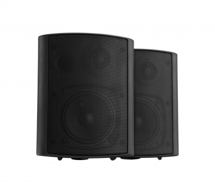 Pronomic USP-430 BK Pair HiFi Wall Speakers, black, 120 watts