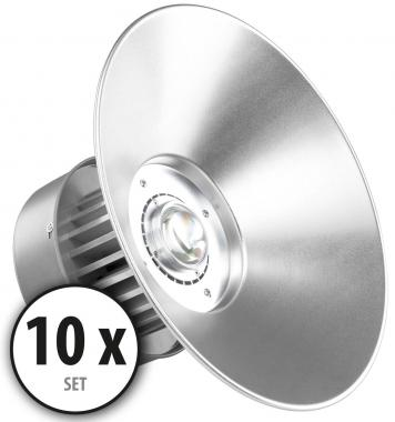 10 x Showlite HBL-50 COB LED High Bay plafondlamp 50W