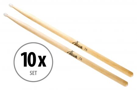 10 Paar XDrum Schlagzeug Sticks 7A Nylon Tip