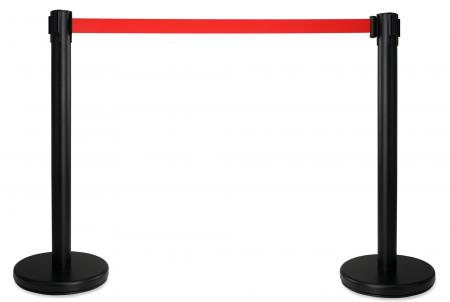 Stagecaptain PLS-200B Barricade Crowd Direction System – Black Pair