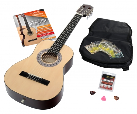 Calida Benita Concert Guitar Set 1/2 natural with accessories