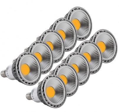 10x SET Showlite LED spot  E14W05K30D 5 Watt, 330 Lumen, socle E14, 3000 Kelvin