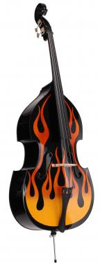 Classic Cantabile RDB-59 Flames Double Bass 3/4