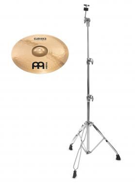 "Meinl Classics Custom Brilliant 18"" Medium Crash + gerader Beckenständer SET"