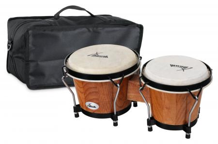 XDrum Bongo Club Standard Tobacco SET incl. Bongo carrying bag