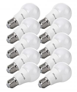 10x SET Showlite LED ampoule  G60E27W06K30N 9 Watt, 860 Lumen, socle E27, 3000 Kelvin, dimmable