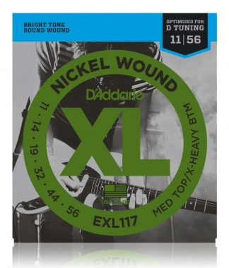 D'Addario EXL117 Medium Top/Extra-Heavy Bottom