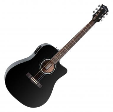 Rocktile D-60CE Acoustic Steel String Guitar Black