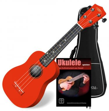Classic Cantabile US RD-100 Soprano Ukulele Red SET with gig bag
