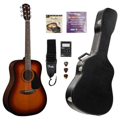 Fender CD-60 Pack Guitarra acústica, color sunburst (Incluido estuche)