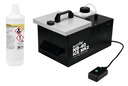 Eurolite NB-40MK2 ICE Bodennebler Set mit Nebelfluid