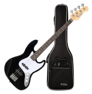Rocktile Fatboy II Bass Black incl. gitaarhoes