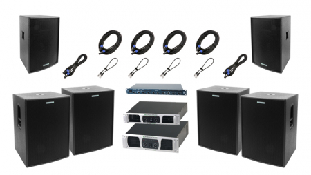 Pronomic Stage Pro II Complete PA System 4,600 Watts