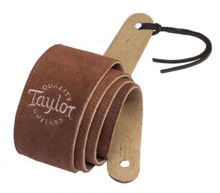 Taylor Suede Logo Strap Chocolate