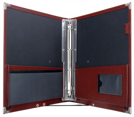 Classic Cantabile B16BK cartera de notas Deluxe marrón oscuro