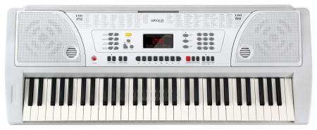 FunKey 61 Keyboard incl. Power Supply and Music Holder, White