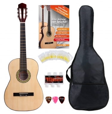 Classic Cantabile Acoustic Series AS-851-L Classical Guitar 7/8-sized for Left-Hander Starter SET