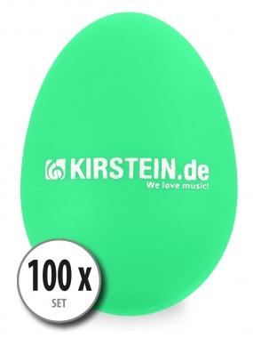 100x Kirstein ES-10G Egg Shaker grün Medium-Heavy Set