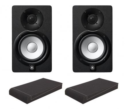 """Yamaha HS7 Aktive Studio Monitore Set mit 7"""" Absorberplatten"""