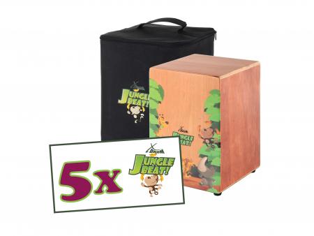 5-SET Jungle Beat Kids Cajon with gig bag