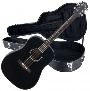 Rocktile D-60 Acoustic Guitar Black SET including case