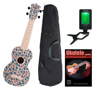 Classic Cantabile BeachBuddy Sunny Zoo Ukulele SET con accordatore
