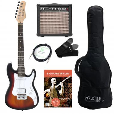 Rocktile Sphere Junior E-Guitar 3/4 Sunburst SET incl. amplifier, cable and strap