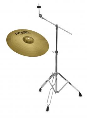 "Paiste 101 Brass 18"" Crash Ride + Galgenbeckenständer SET"