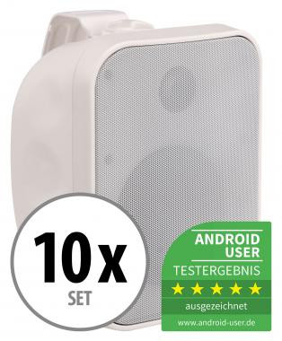 10x Pronomic OLS-5 WH outdoor loudspeakers white 10x 100 watts