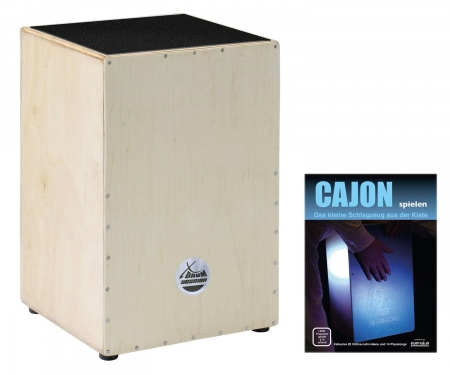 XDrum Cajon Nature Series Nature wood including textbook + download links for playalongs