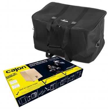 Schlagwerk CBA 1 S Cajon Schnellbausatz SET + Tasche Large