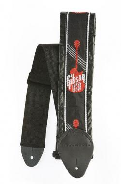 "Gibson Nylon Guitar Strap 3"" Red Logo"