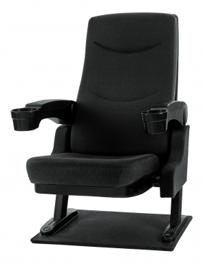Stage Captain CS-600BK MovieKing theater seat, black