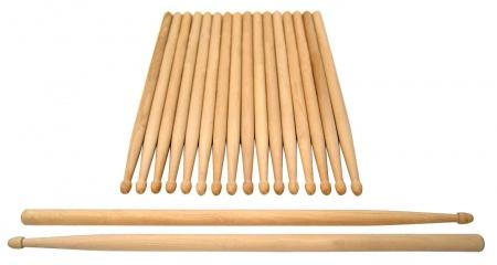 XDrum baquetas de batería Classic 5A Wood Tip 10 pares