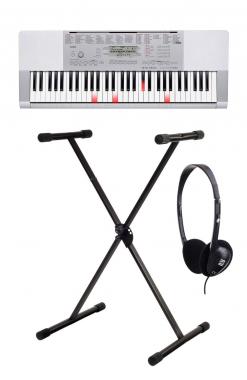 Casio LK-280 Leuchttasten-Keyboard: SET mit Keyboardständer und Kopfhörer