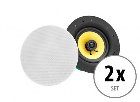 Set of 2 Pronomic CLS-660 WH 2-way high-end tissue built-in loudspeakers 240 Watt