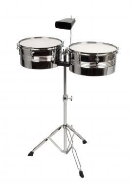 Timbales 13 et 14 pouces + cencerro Classic Cantabile