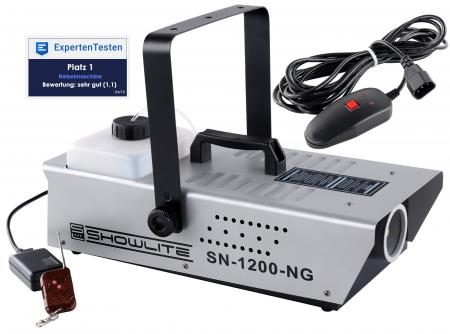 Showlite SN-1200 Fog Machine (1200W, 350m³ fog output / min, 7 min. Warm-up time) incl. Remote control
