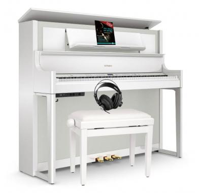 Roland LX708-PW Digitalpiano Set Weiß Hochglanz