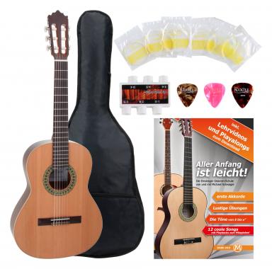 Antonio Calida GC201S 3/4 Classical Guitar Starter Set incl. 5-piece accessory set