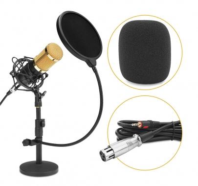 McGrey CM-80B microfono podcast a condensatore Set con asta da tavolo e filtro antipop