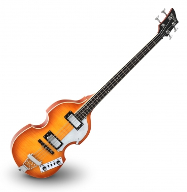 "Rocktile VB-1 ""Sir Paul"" Vintage Beatbass (Violin Bass, Bass Guitar, Hollow Body, 2 Humbuckers) Sunburst"
