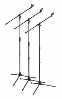 3-Piece SET McGrey MBS-01 microphone stand with boom and microphone clip