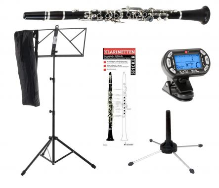 Classic Cantabile CL-20 German Bb Clarinet SET incl. metronome, stand, clarinet stand, fingerings