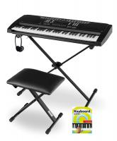 DIGITAL 61-TASTEN KEYBOARD E-PIANO 128 SOUNDS /& RHYTHMEN USB MP3 RECORD WEISS