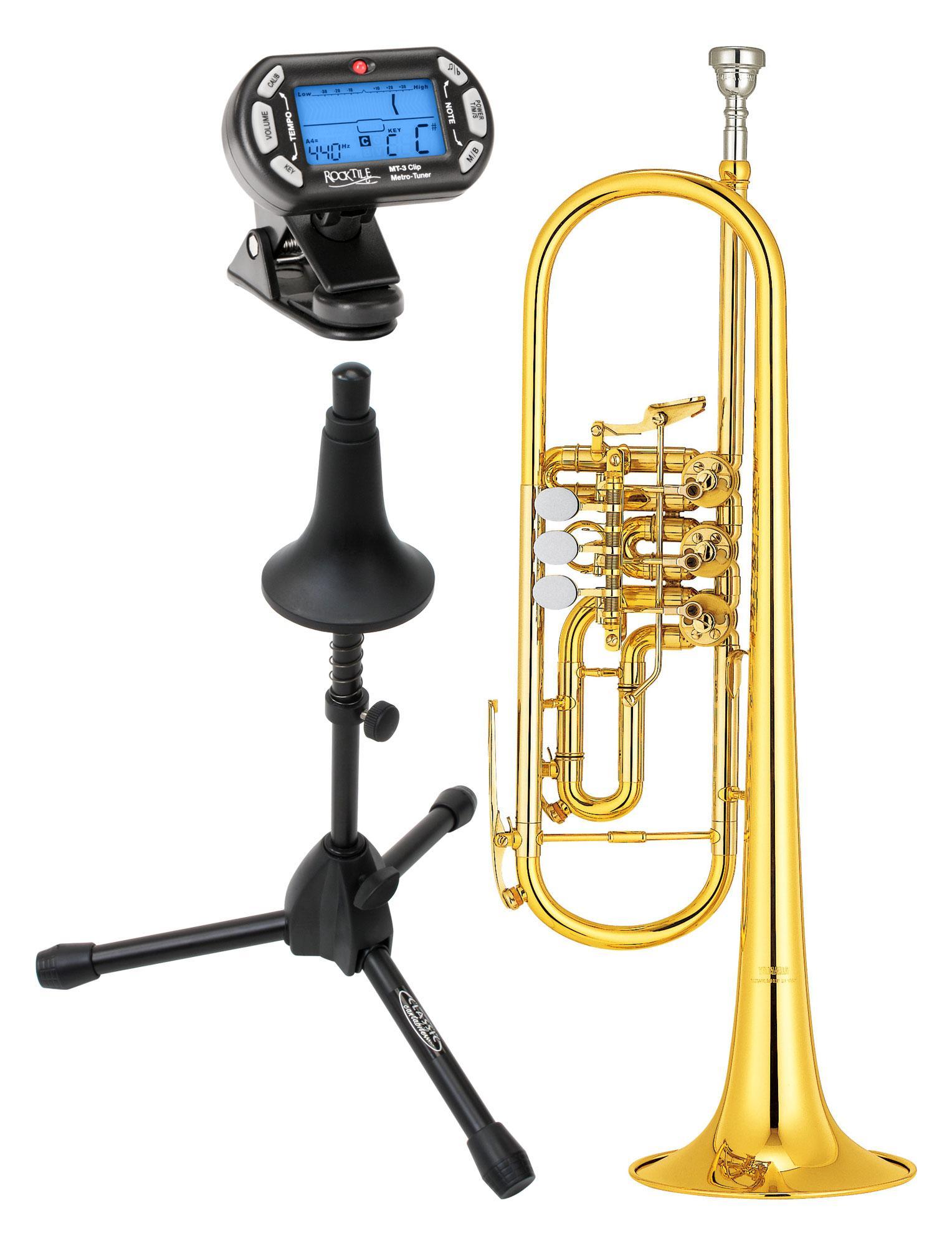 Yamaha YTR 436 G Konzerttrompete lackiert Set inkl. Ständer und Stimmgerät